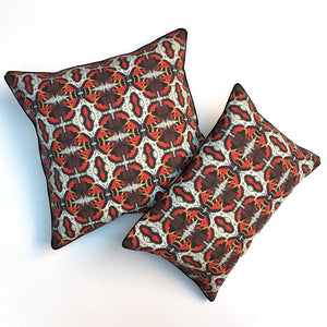 Orange Butterfly Farfalle Pillow {FA103}