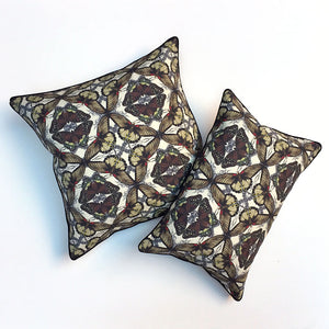 Brown Butterfly Farfalle Pillow {FA104}