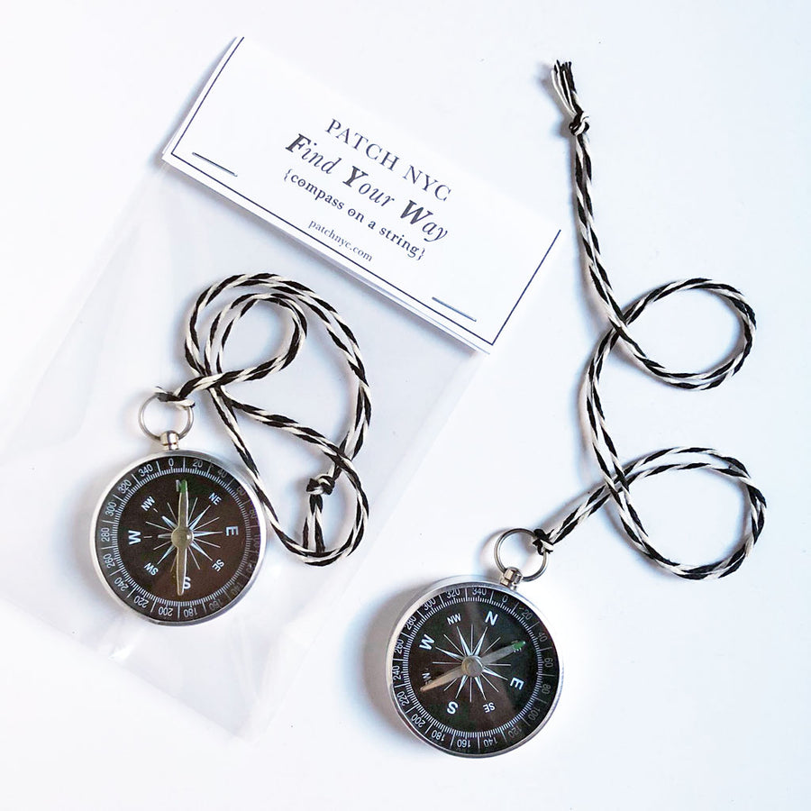 Find Your Way Compass on a String