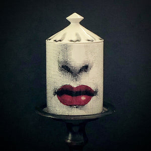 Fornasetti Bacio Candle with Lid