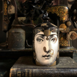 Fornasetti L'Eclaireuse (gold) Candle with Lid