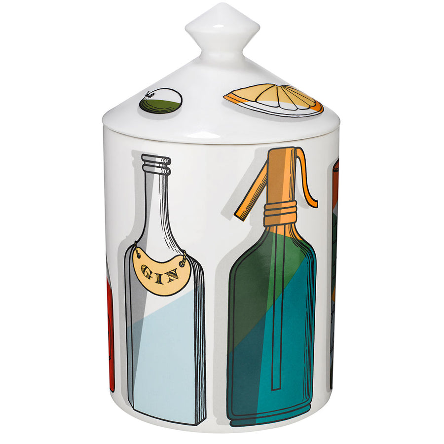 Fornasetti Cocktail Candle with Lid
