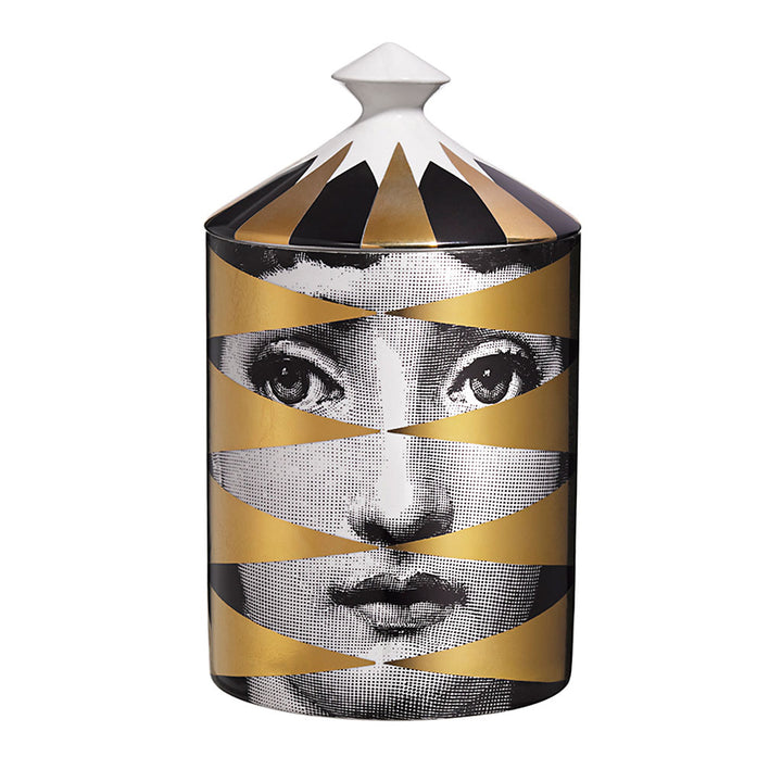 Fornasetti Losange (gold) Candle with Lid