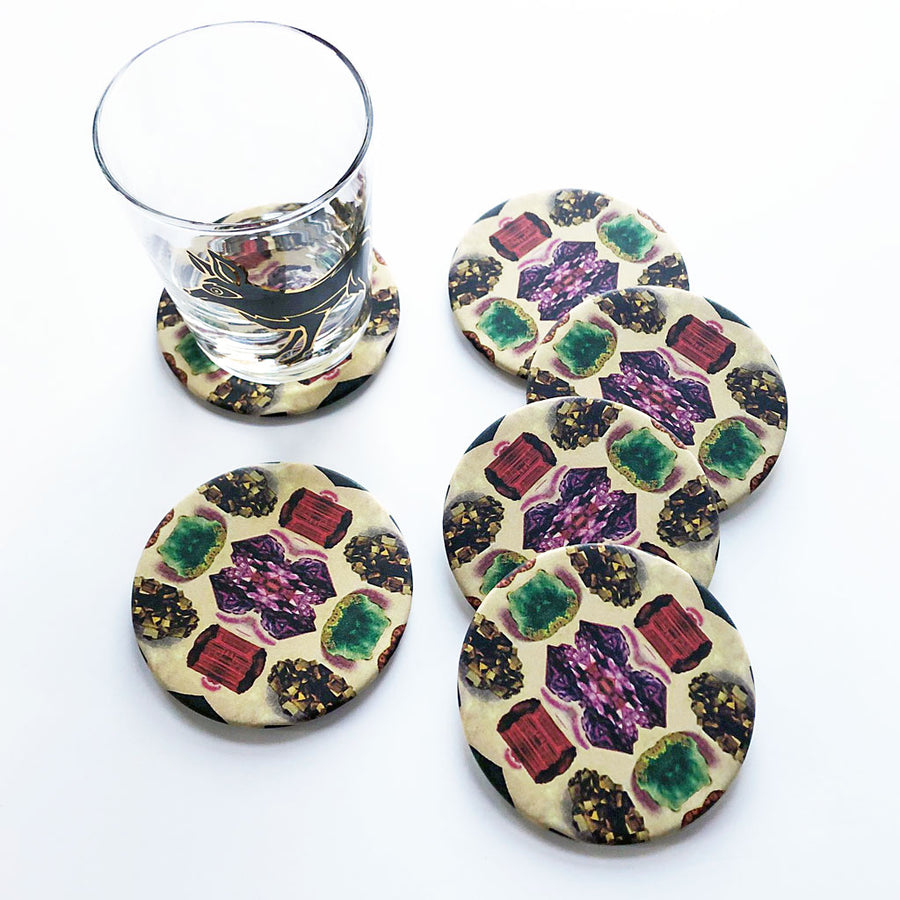 Gems & Minerals Coaster Set