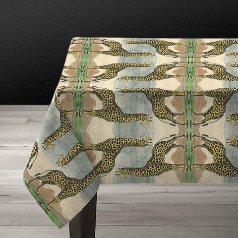 PATCH NYC Giraffe Linen Tablecloth {AVLTCG}