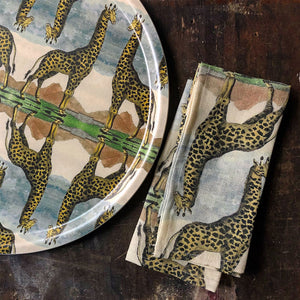 PATCH NYC Giraffe Linen Napkins
