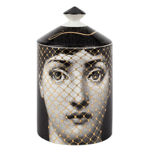 Fornasetti Burlesque (gold) Candle with Lid