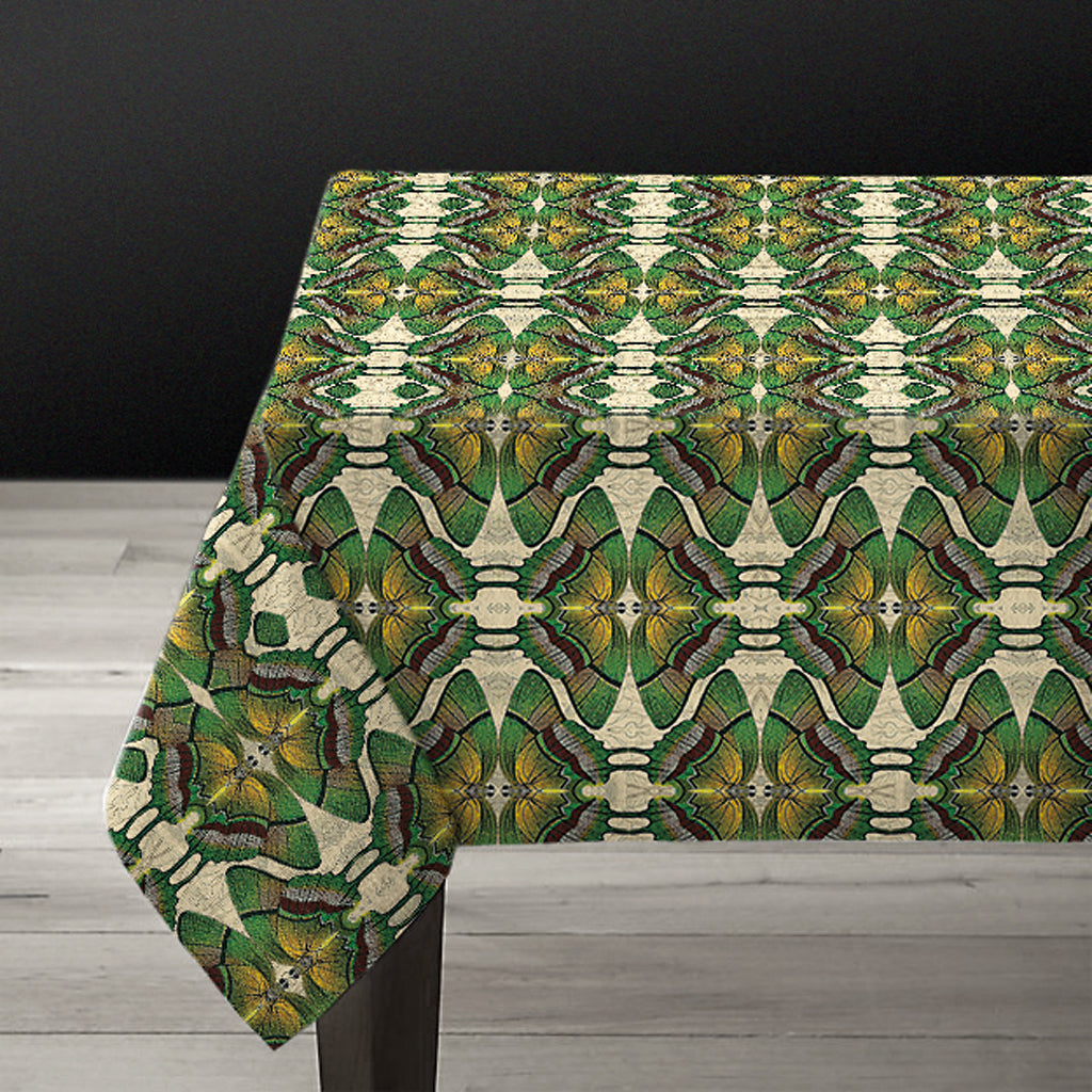 PATCH NYC Green Butterfly Linen Tablecloth {AVLTCGB}