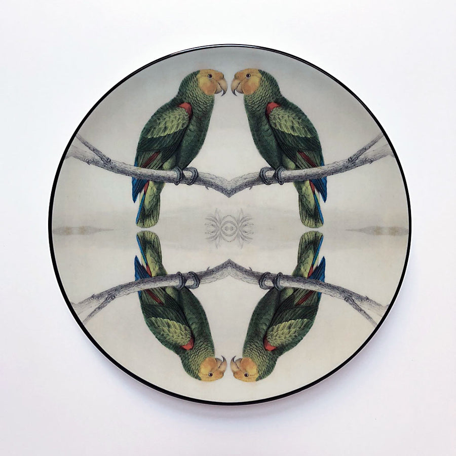 PATCH NYC for Les Ottomans Green Parrot Plate