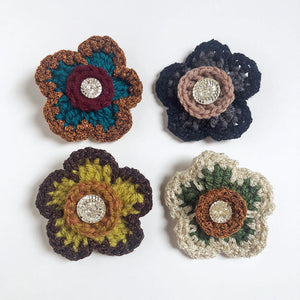 Crochet Flower Pins