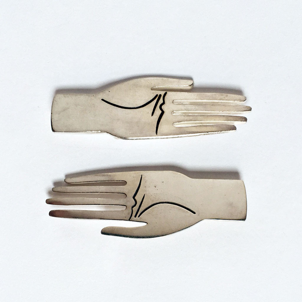 Sterling Hand Pin {BW01}
