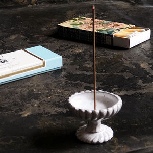 Astier de Villatte Small Footed Incense Holder