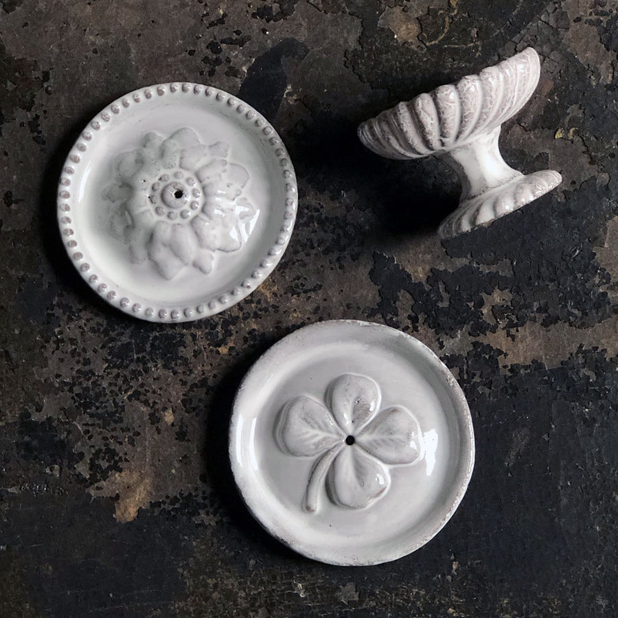 Astier de Villatte Rosette Incense Holder