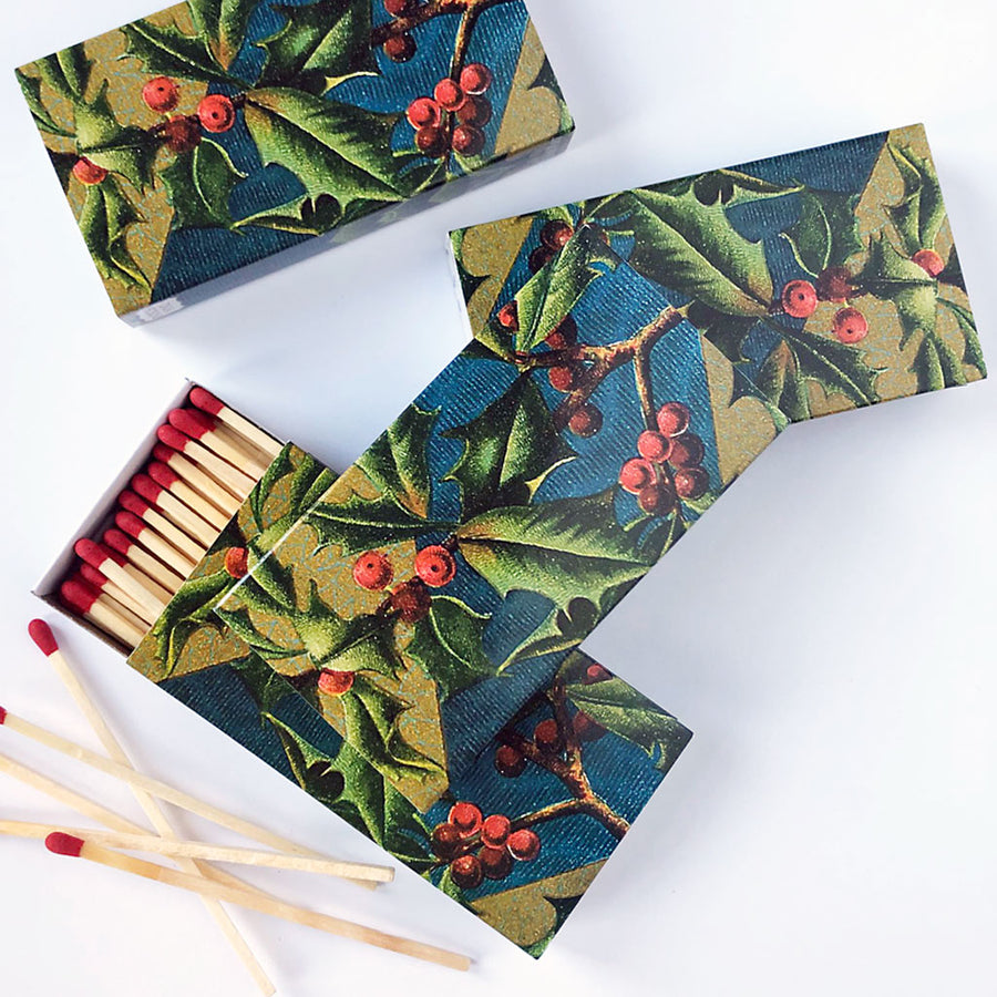 Vintage Holly Matches (pack of 4 boxes)