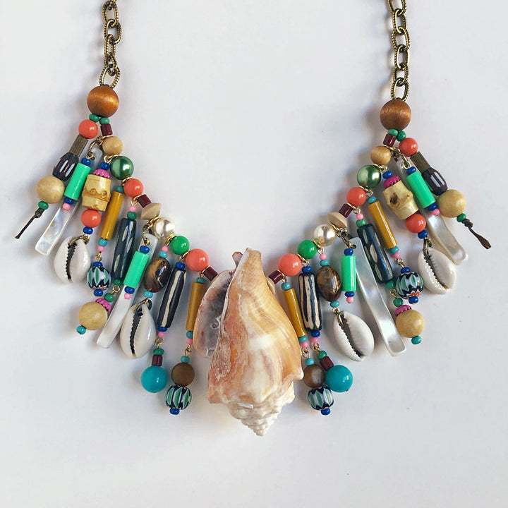 Seashell One of a Kind Necklace {03}