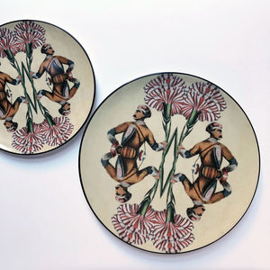 PATCH NYC for Les Ottomans Man with Carnation Plate