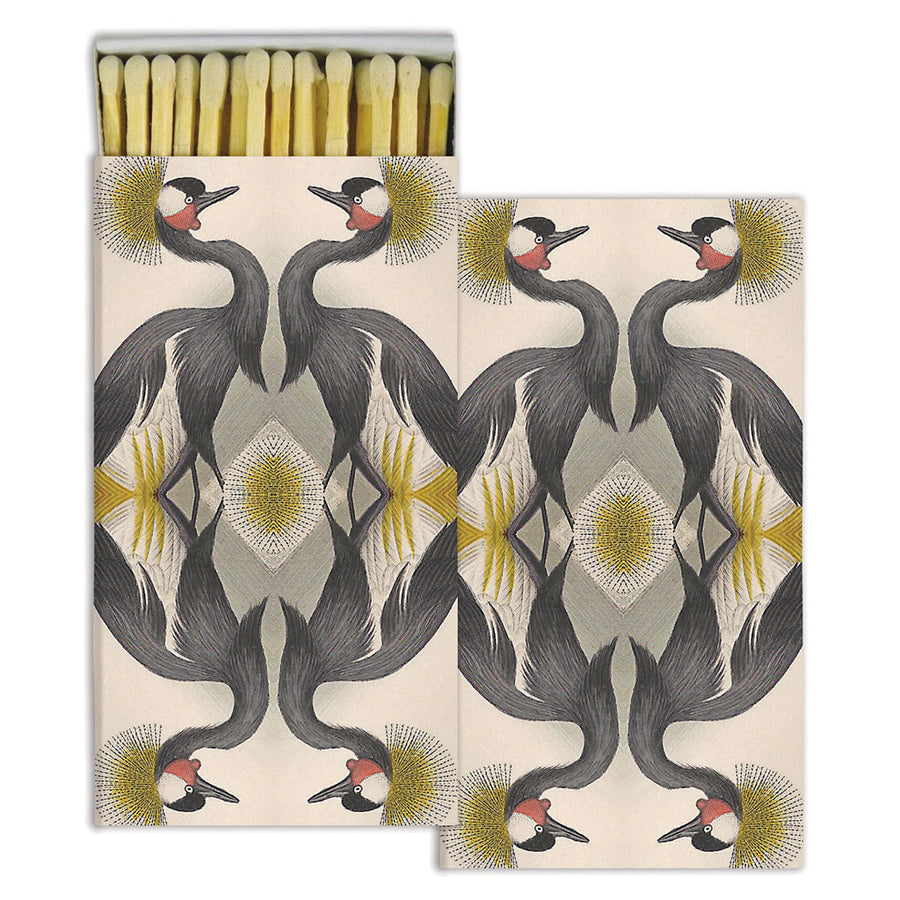 Crested Crane Matches (pack of 4 boxes)