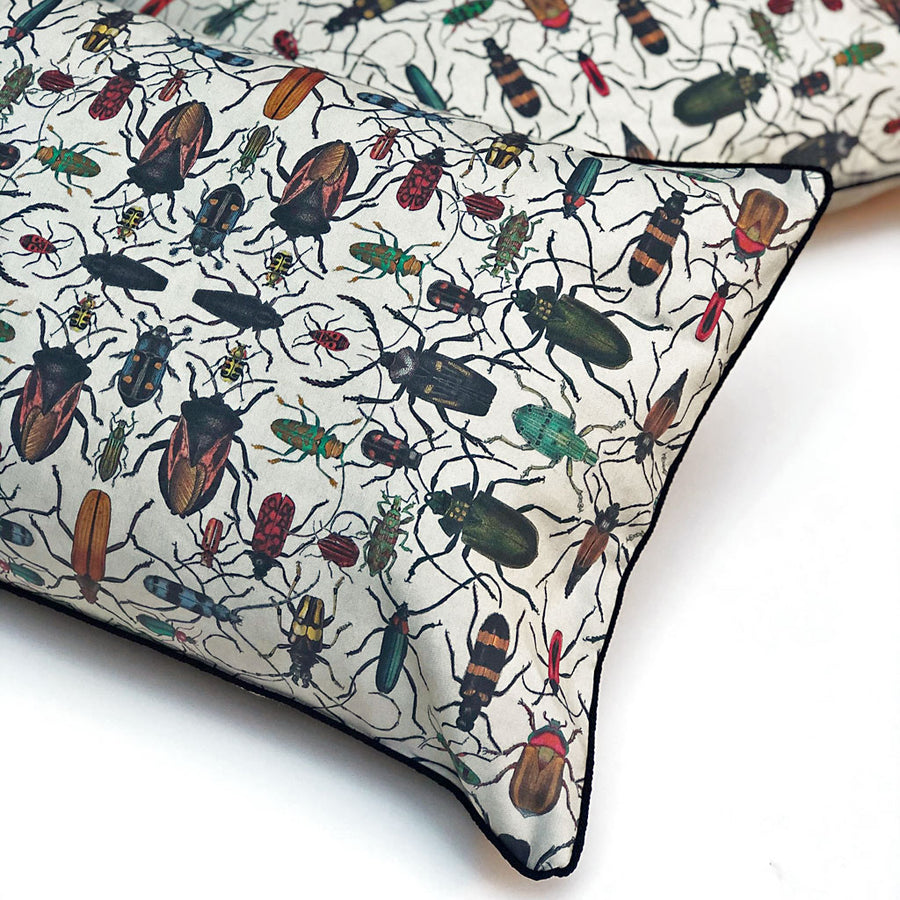 Mixed Beetles Ephemera Pillow
