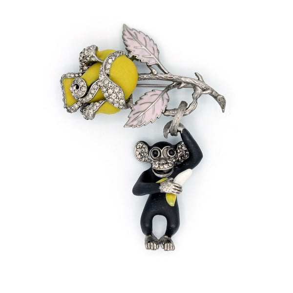 Monkey with Rose Pin {P147PE}