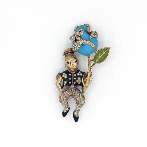 Mr. Lee & Rose Pin {P149PE}