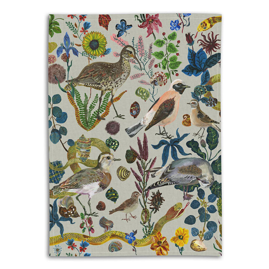 Nathalie Lete Birds in the Dunes Linen Tea Towel