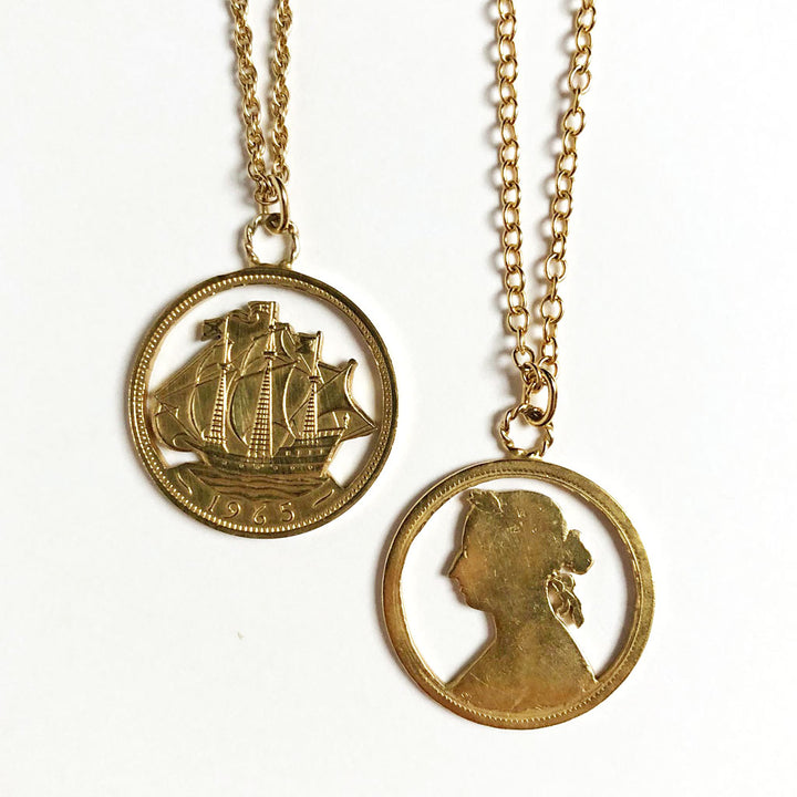 Golden Ship & Victoria Necklaces