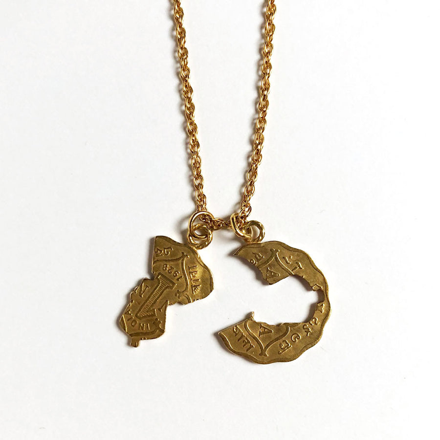 Golden Silhouette Necklace