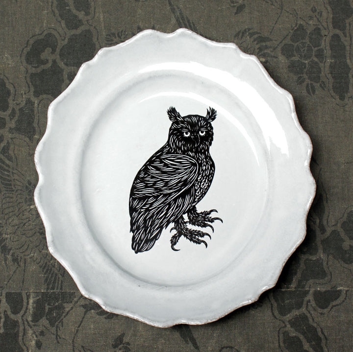 Owl Medium Plate {ASPPTC15}