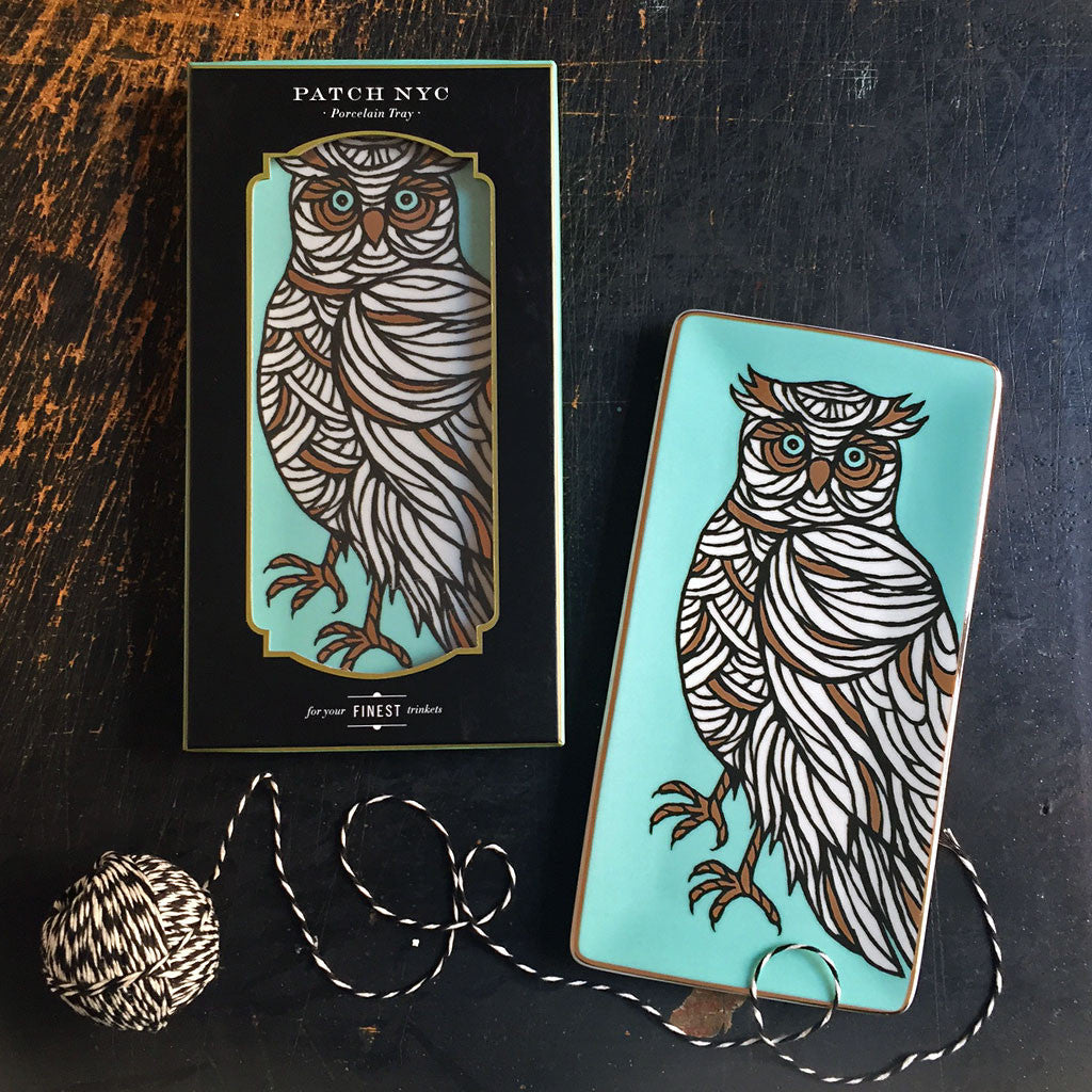 PATCH NYC Owl Porcelain Tray {7171}