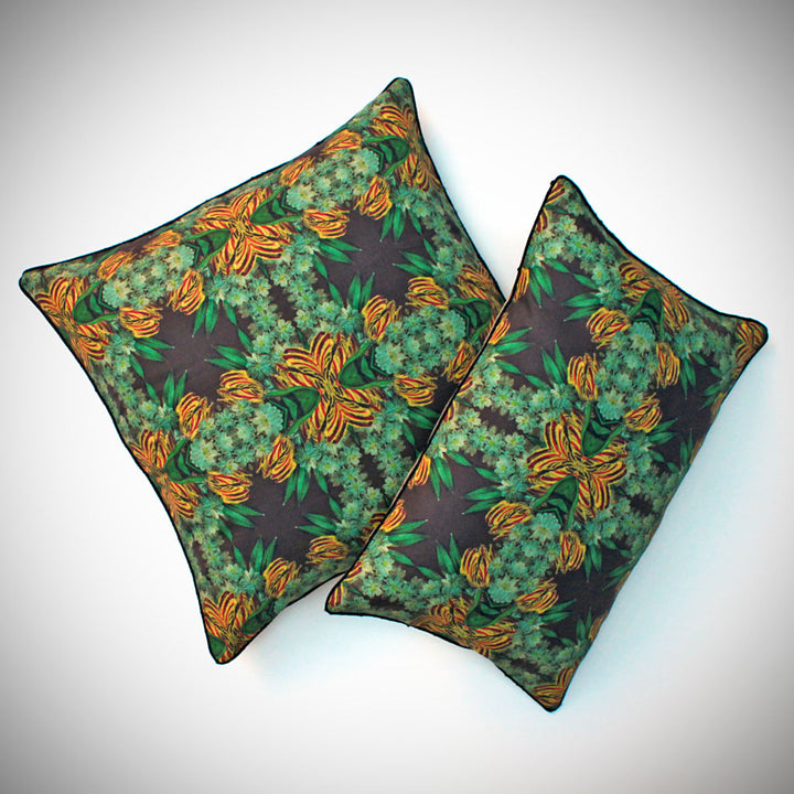 Yellow Tulip Cluster Pillow {PG08}