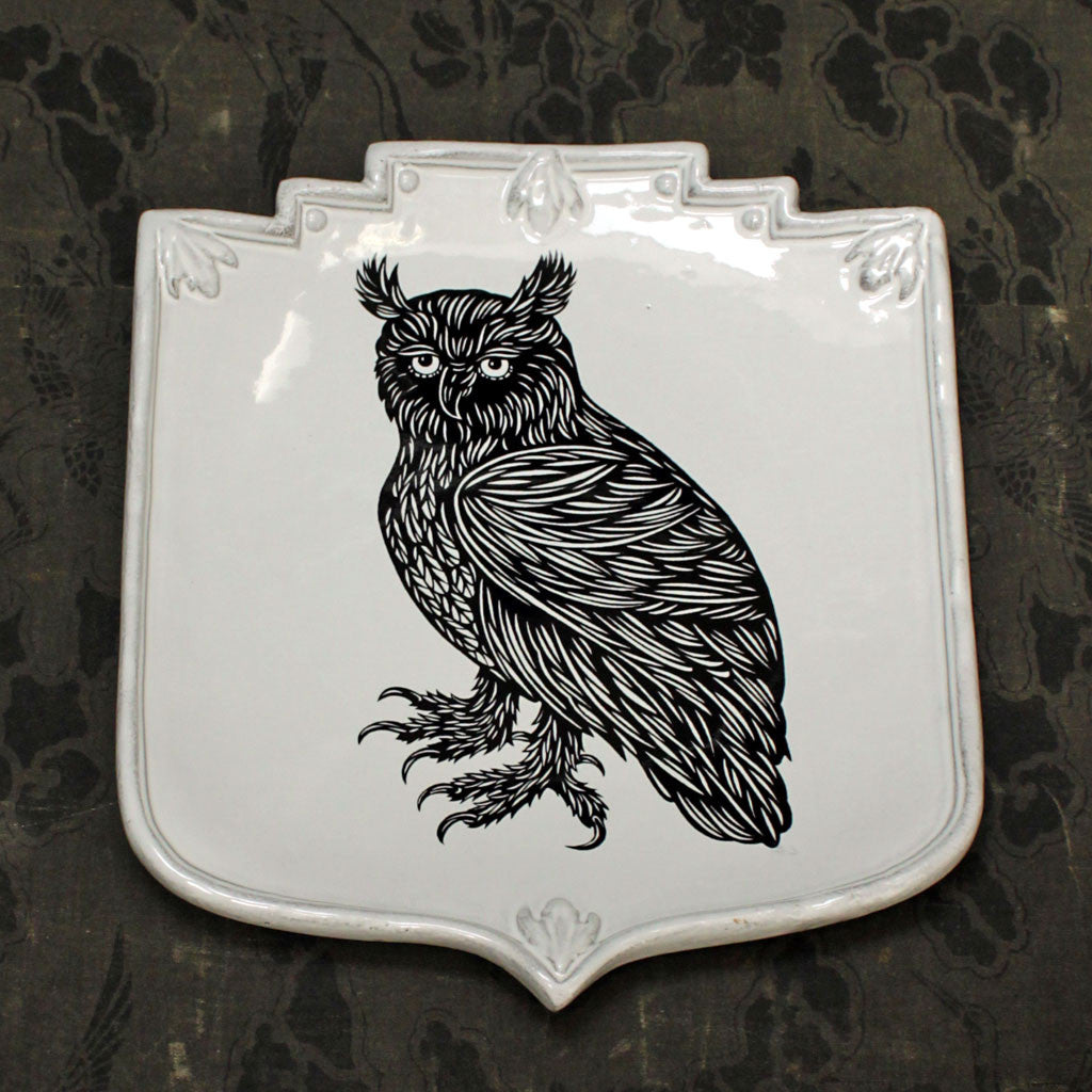 Owl Shield Platter {PLTPTC25}