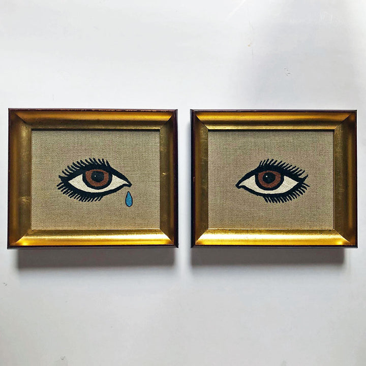 Carmella Carney Needlework Eyes with Tear