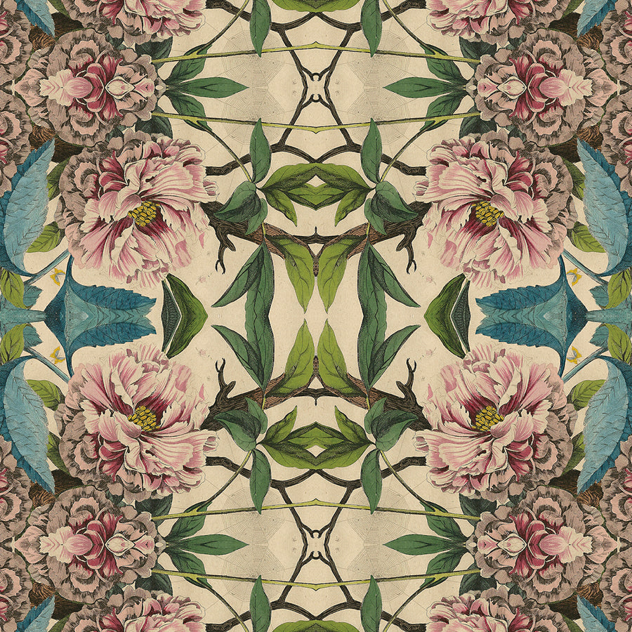 Wildlife & Peony Wallpaper Sample