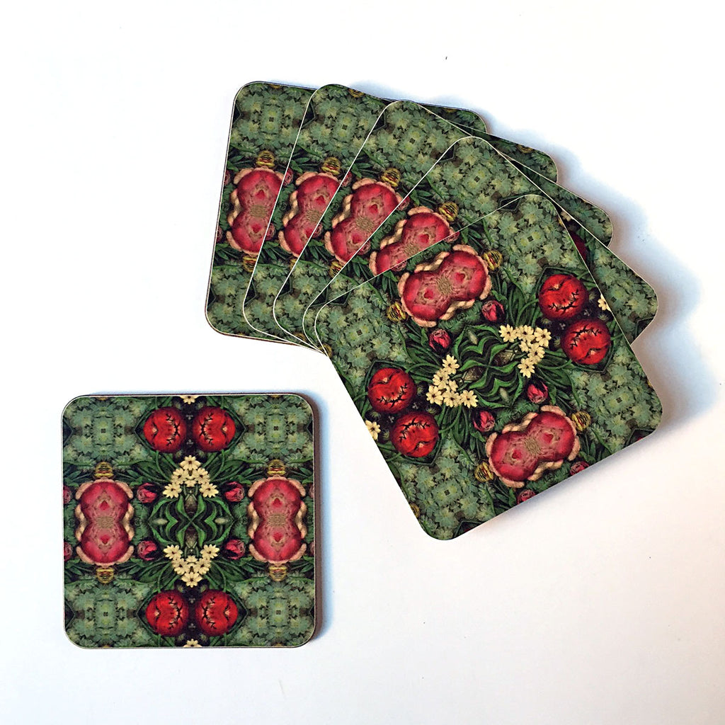 PATCH NYC Pink Bouquet Coaster Set {AVCPB}