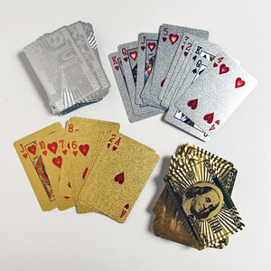 Gold or Silver Playing Cards
