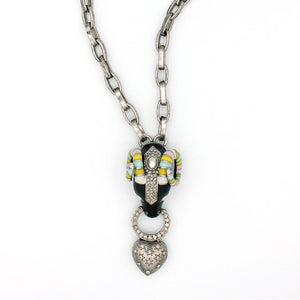 Ram with Heart Chain Necklace {P123NE}