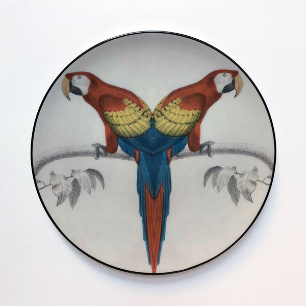 PATCH NYC for Les Ottomans Red Parrot Plate