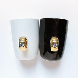 Gold Ring Ceramic Mug