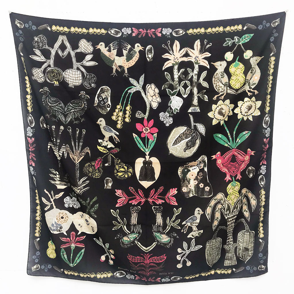 Collage Silk Scarf by Nathalie Lete & PATCH NYC