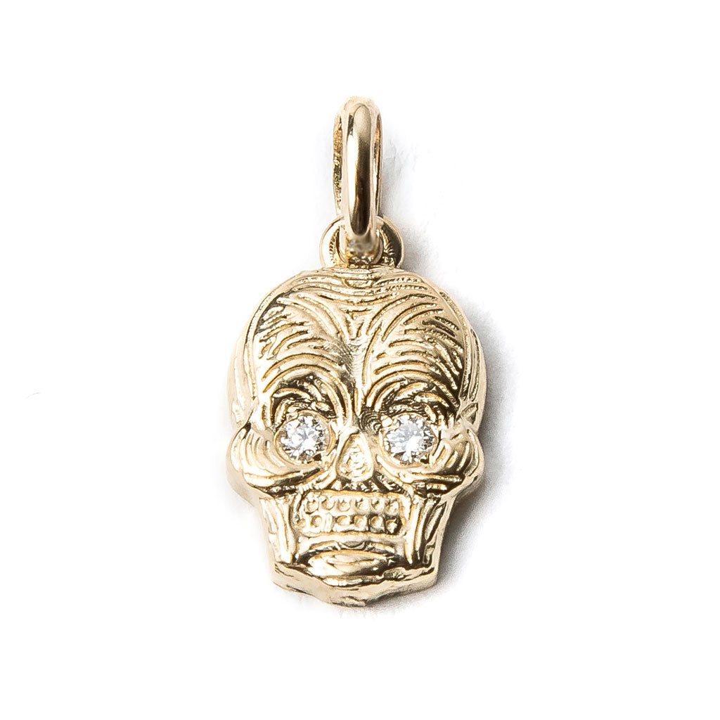 Skull Charm with Diamond Eyes {PMF04D}