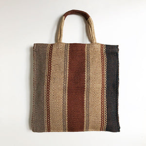 Neutral Stripe Medium Tote