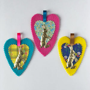 Spring Heart Tokens (set of 3)