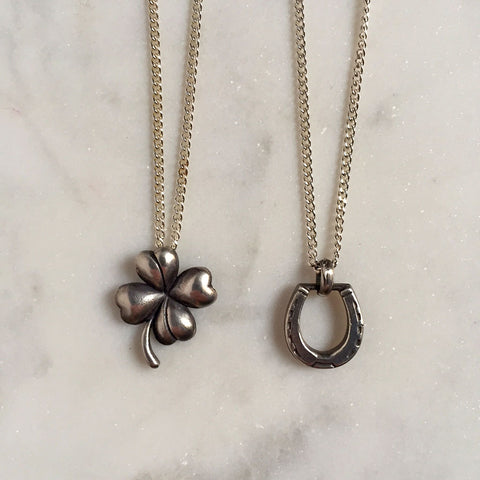 Lucky Clover & Victorian Horseshoe Necklace {CCN08}