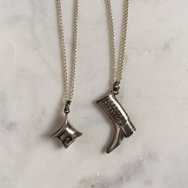 Top Hat & Riding Boot Necklace {CCN01}