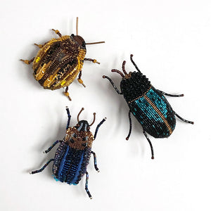 Beetle Embroidered Pins