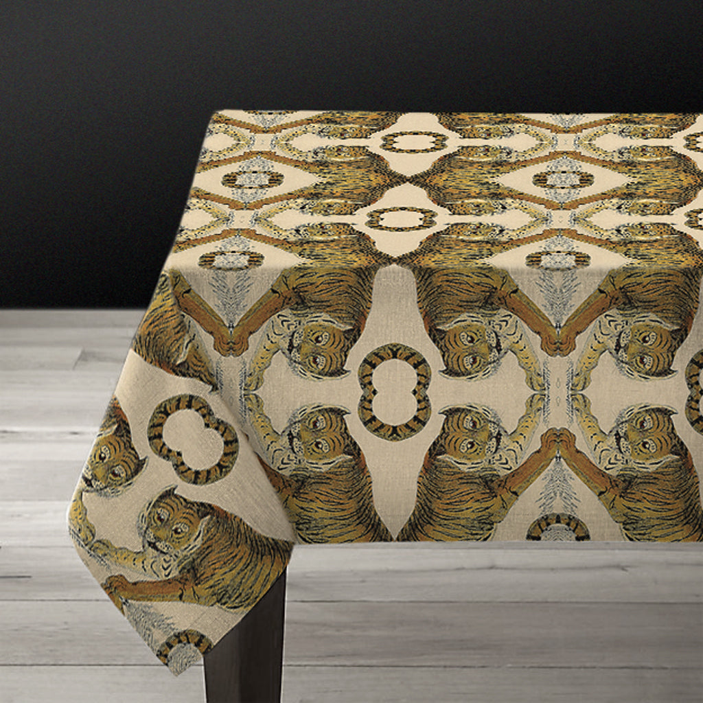 PATCH NYC Tiger Linen Tablecloth {AVLTCT}