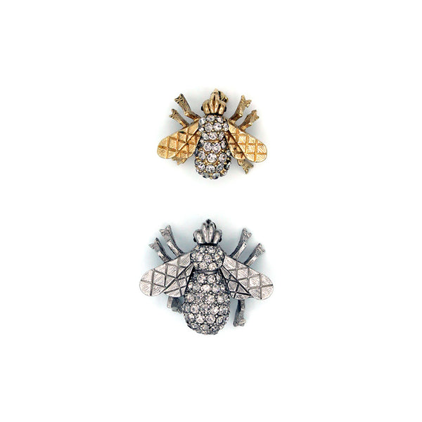 Crystal Bee Pins {P137P/P136P}