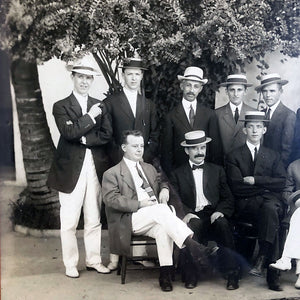 Men in Hats Photograph Vintage Art