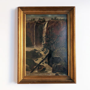 Landscape with Waterfall Vintage Art