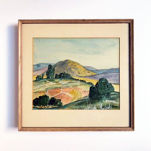 Watercolor Landscape Vintage Art